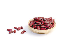 Red beans on white background. Stock Photography