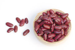 Red beans on white background. Royalty Free Stock Images