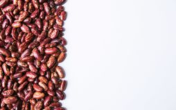 Red beans in a withe background royalty free stock photos