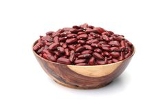 Red beans. Is in wooden blow Royalty Free Stock Image