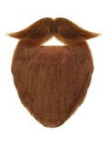 Red beard with curly mustache isolated on white Royalty Free Stock Photo