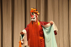 """Red beard painted face- Beijing Opera"""" Women Generals of Yang Family"""" Stock Images"""