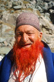 Red beard, Sonamarg, Kashmir, India. Red beard old man in the mointains of Sonamarg royalty free stock image