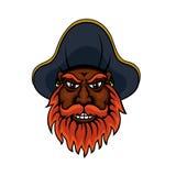 Red bearded cartoon pirate captain Stock Photos