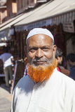 Red bearded man posing in the street of Jaipur Royalty Free Stock Photography