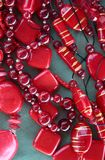 Red beautiful beads Royalty Free Stock Images