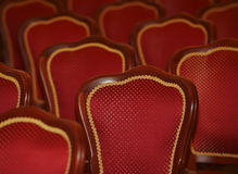 Red beautiful chairs Moscow 2014. Red beautiful chairs Moscow hall 2014 Stock Photography