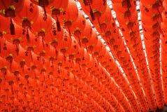 Red and beautiful Chinese lantern Stock Photo