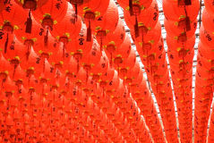 Red and beautiful Chinese lantern Stock Photos