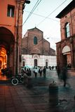 The Red beautiful city of Bologna stock photo