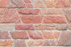 Red beautiful stone wall texture Royalty Free Stock Photos