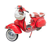 Red beautiful vintage scooter Royalty Free Stock Photo