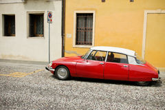 Red beauty - Citroën DS Royalty Free Stock Photos