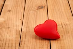 Red beauty heart od wooden bacground and empty space stock photos