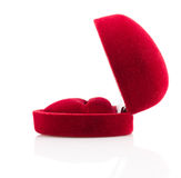 Red beautyful jewelry box Stock Images