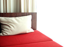 Red bed in the bedroom Stock Photography