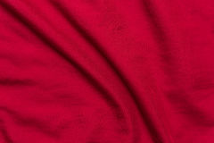 Red Bed Sheets background , texture Stock Photo