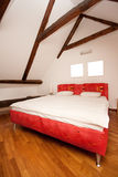 Red bedroom Royalty Free Stock Photo