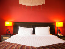 Red bedroom Royalty Free Stock Images