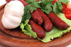 Red beef chorizo Royalty Free Stock Photo