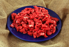 Red beef on plate Stock Image