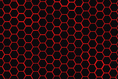 Red beehive black background. Royalty Free Stock Photo