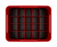Red beer crate Stock Photography