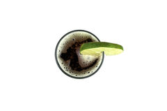 Red beer with lime. Royalty Free Stock Photo