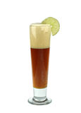 Red beer with lime. Royalty Free Stock Image