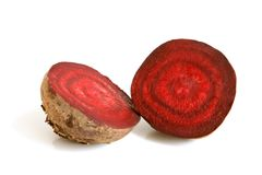 Red beet. On a white background Royalty Free Stock Image