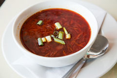 Red beet borscht soup Royalty Free Stock Image