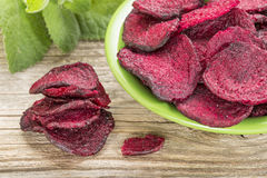 Red beet chips Royalty Free Stock Photos