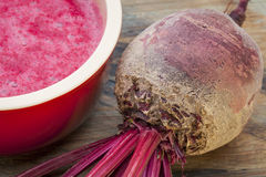 Red beet cream soup Royalty Free Stock Photo