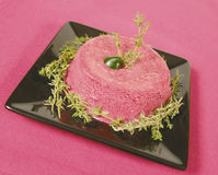 Red beet desert Stock Images
