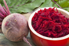 Red beet grated Stock Image