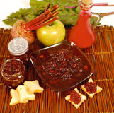 Red beet marmalade Royalty Free Stock Images