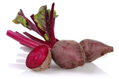 Red Beet root. Isolated on white background royalty free stock photos
