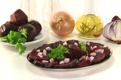 Red beet salad Stock Image