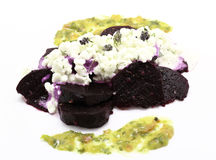 Red beet salad Royalty Free Stock Photography