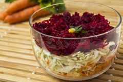 Red beet salad Stock Photography