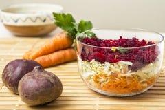 Red beet salad Stock Photo