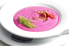 Red beet soup royalty free stock photo