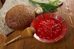 red-beet soup (borscht) Stock Photo