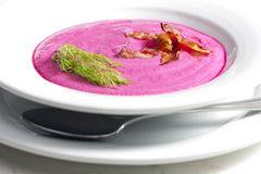 Red beet soup Royalty Free Stock Photos