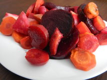 Red beet and vegetable salad Royalty Free Stock Photo