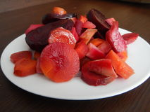 Red beet and vegetable salad Stock Photography