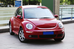 Red Beetle Car Royalty Free Stock Photo