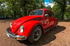 Red beetle collector car Royalty Free Stock Photos