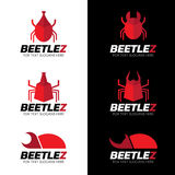 Red Beetle logo vector set art design Stock Photo