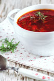 Red beetroot soup Stock Images
